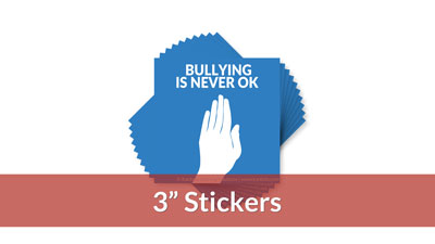 Bullying is Never OK Stickers (10-pack)