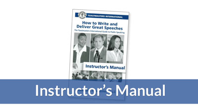 How to Write and Deliver Great Speeches Instructors Manual