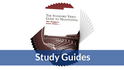 The Stanford Video Guide to Negotiating Study Guide (10-pack)